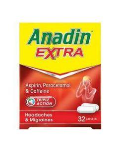 Anadin Extra Caplets 32 - Medicine Direct UK Online Pharmacy