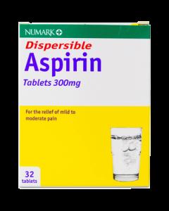 Aspirin 300mg Dispersible Tablets 32s