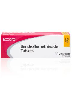 Buy Bendroflumethiazide 2.5mg/5mg tablets for high blood pressure from Medicine Direct UK Online Pharmacy