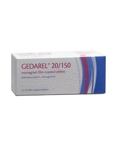 Gedarel 20/150 Combined Contraceptive Pill Buy online from Medicine Direct UK Online Pharmacy